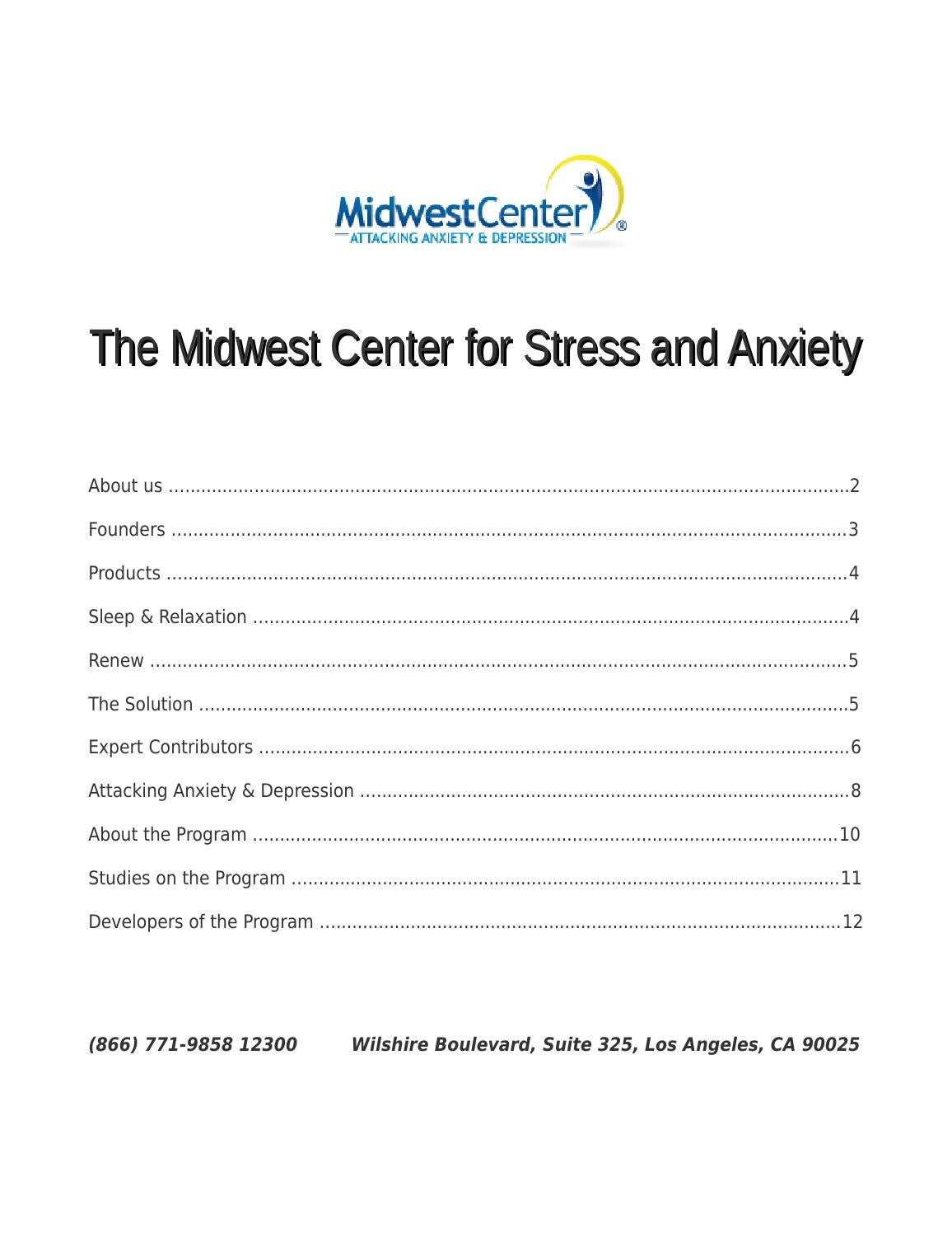 The Midwest Center for Stress and Anxiety by Midwest ...