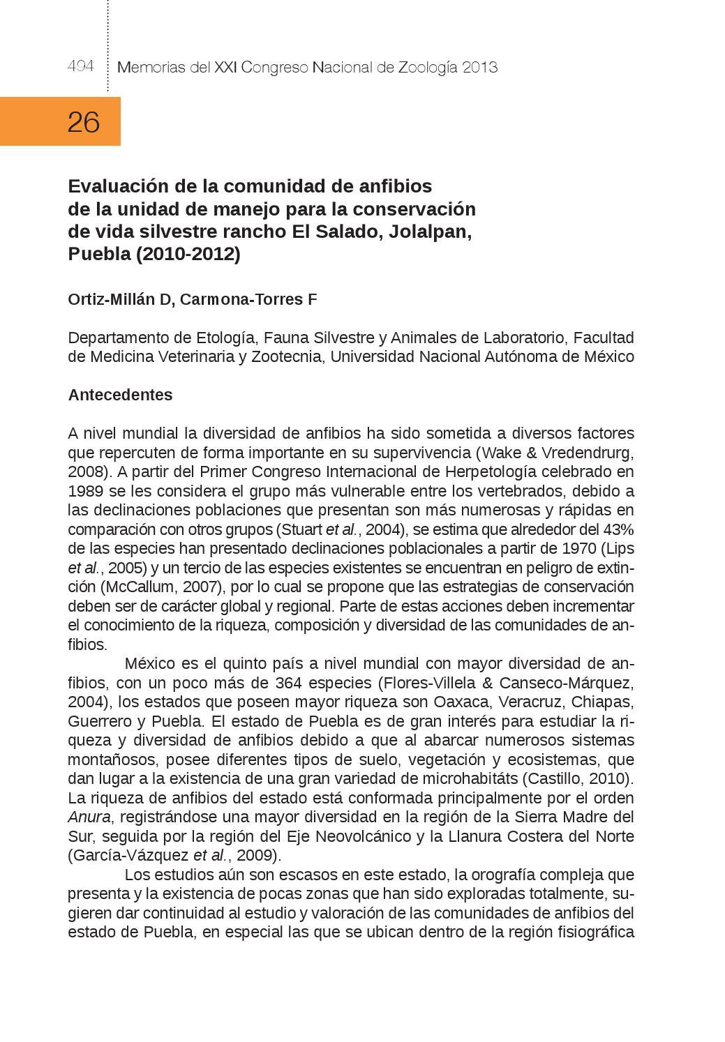 Memorias del XXI Congreso Nacional de Zoología 2013 / J. Jesús ...