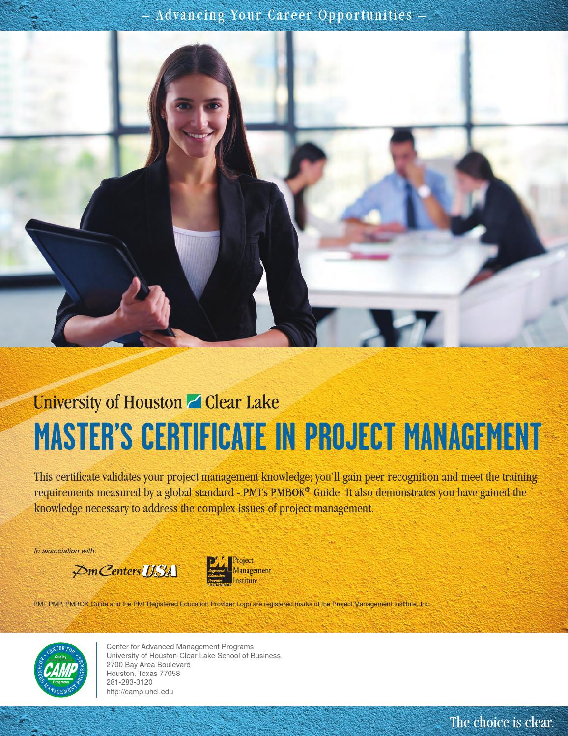 Masters Certificate In Project Management By Center For Advanced