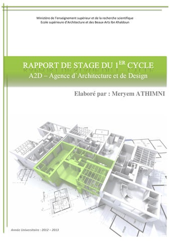Rapport De Stage By Meryem Athimni Issuu