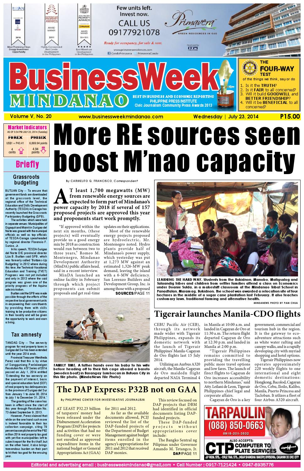 BusinessWeek Mindanao (July 23, 2014) by Mindanao Daily News - issuu