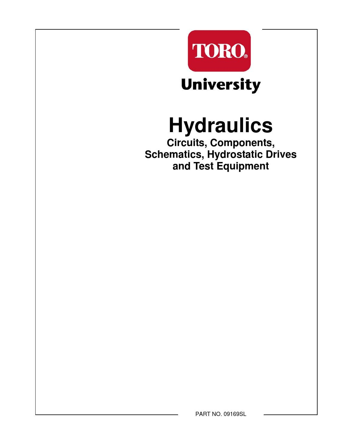 Toro Hydraulic Course By Lostinthewoods Issuu Basic System Diagram Troubleshooting Tips For