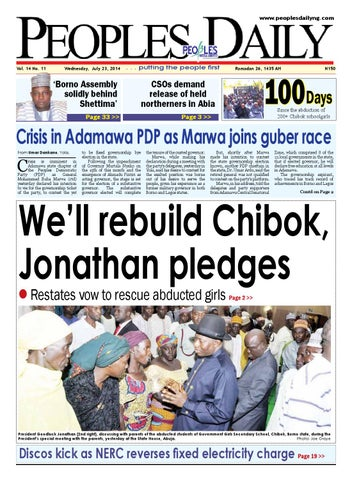 Wednesday 23rd July, 2014 Edition by Peoples Media Limited