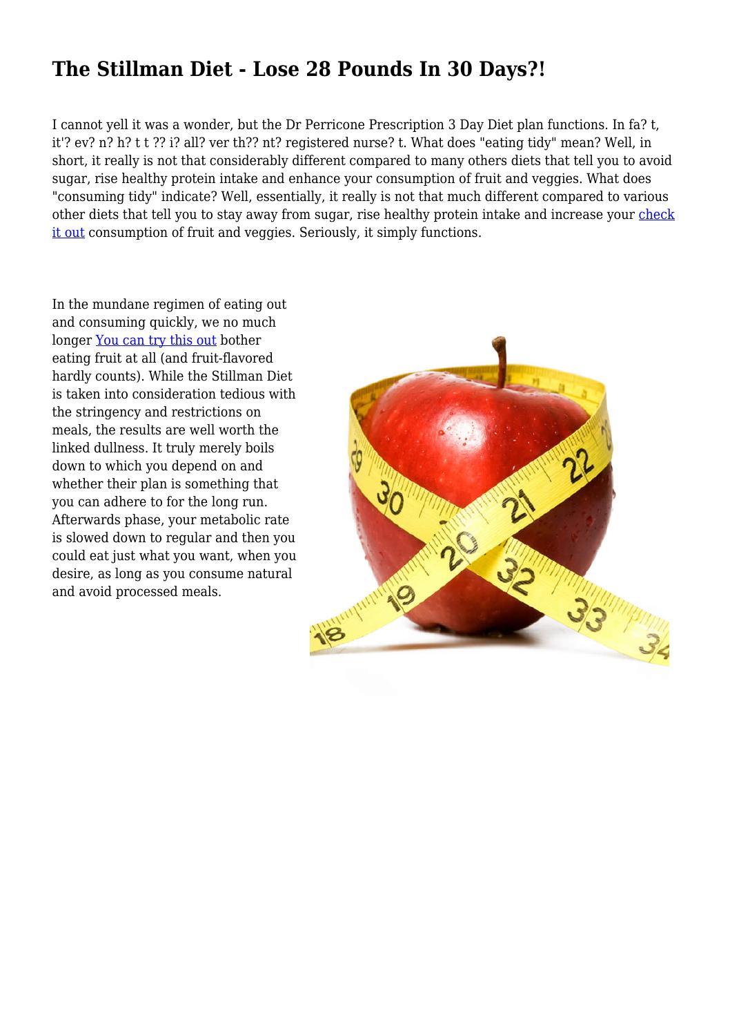 What is the Stillman Diet?