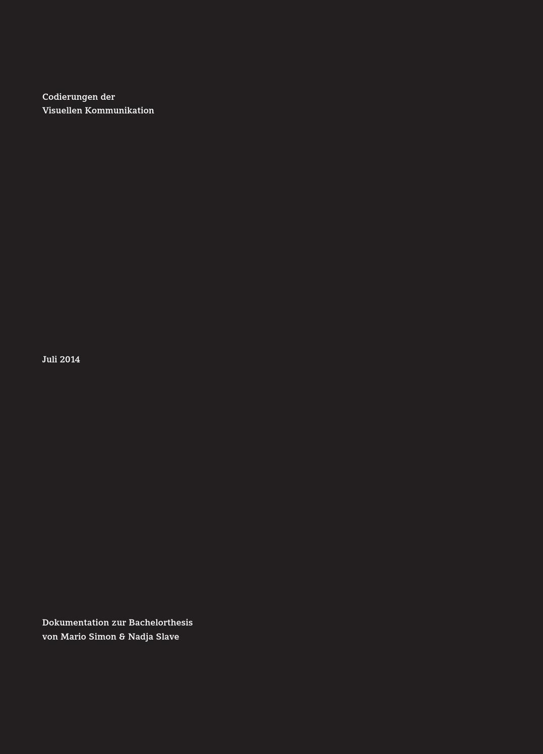 Codierungen der Visuellen Kommunikation by mariosimonde - issuu