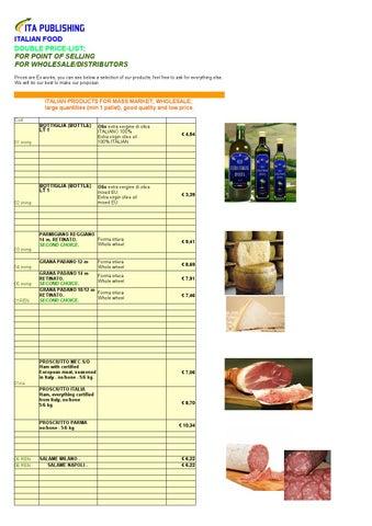 Food price-list by Ita Publishing srl - issuu