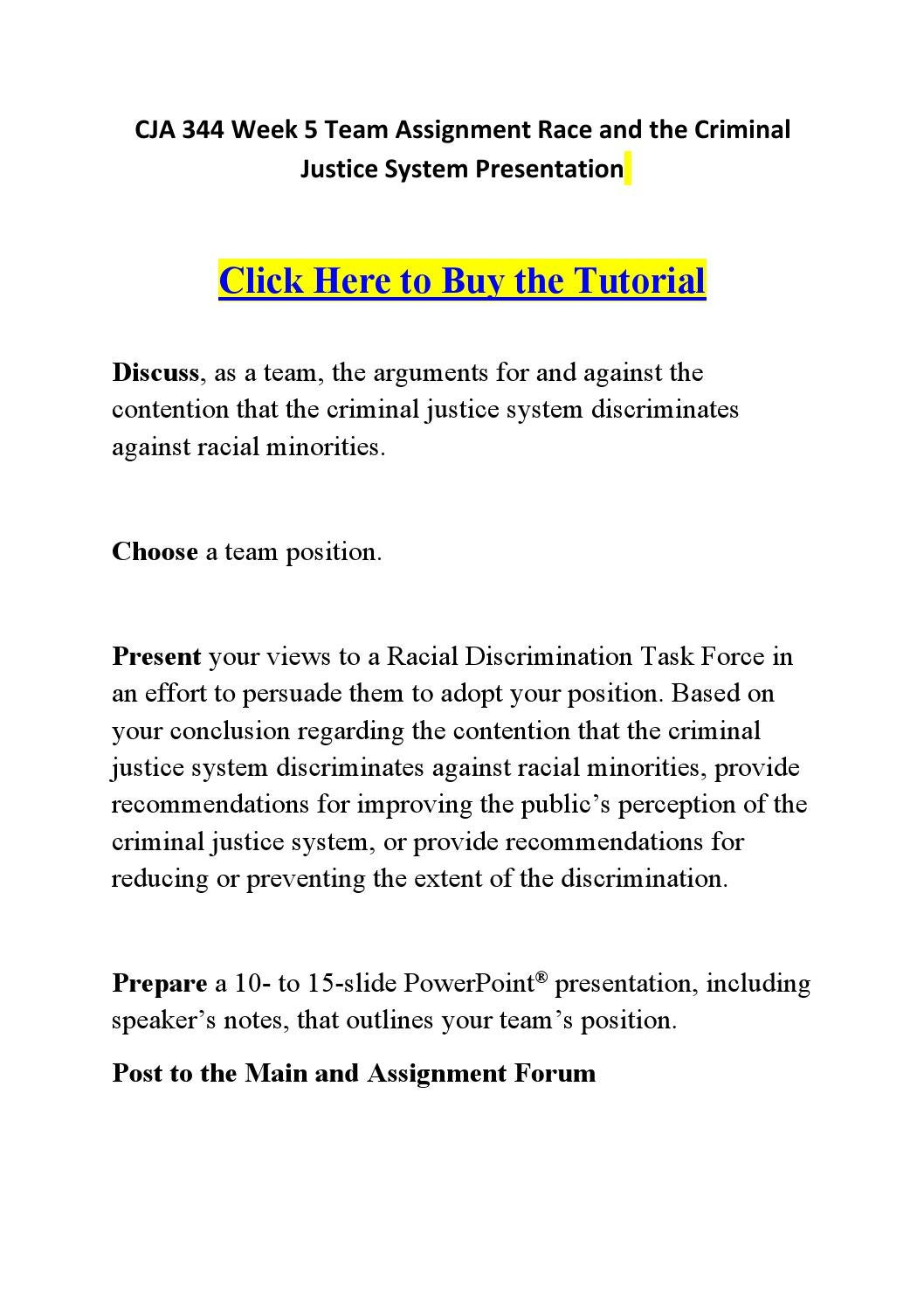 racism in the criminal justice system pdf
