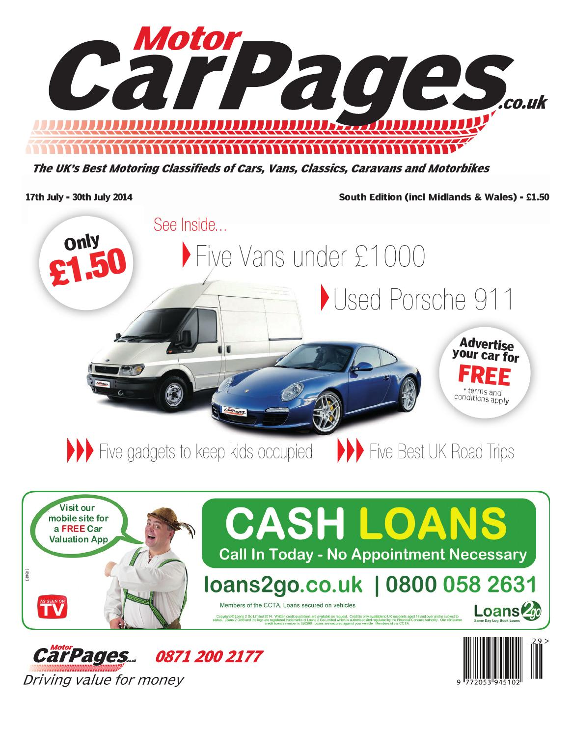 Motor Car Pages South, 17th July 2014 by Loot - issuu