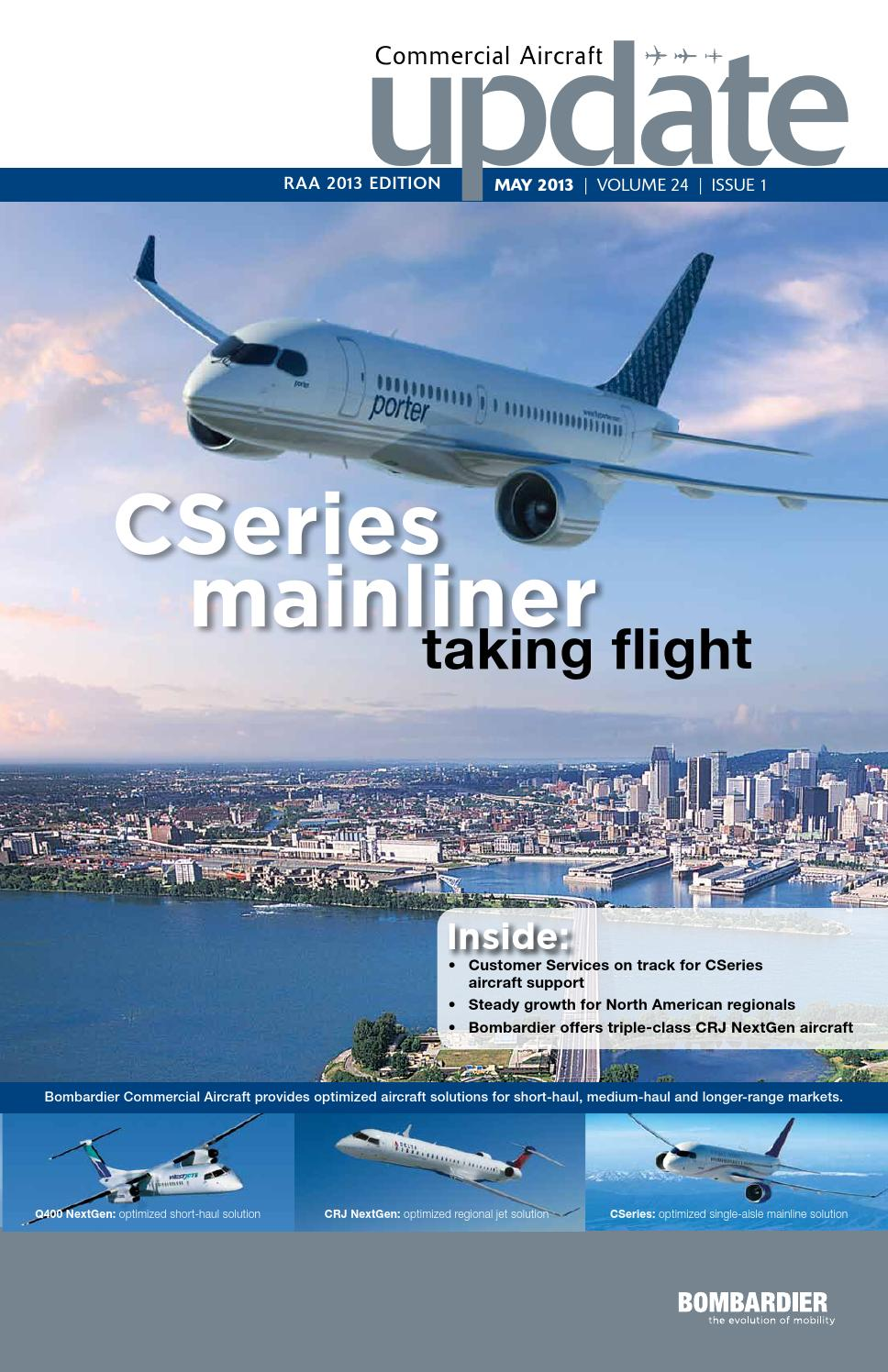 Bombardier Commercial Aircraft Update - May 2013 by say what!  communications - issuu