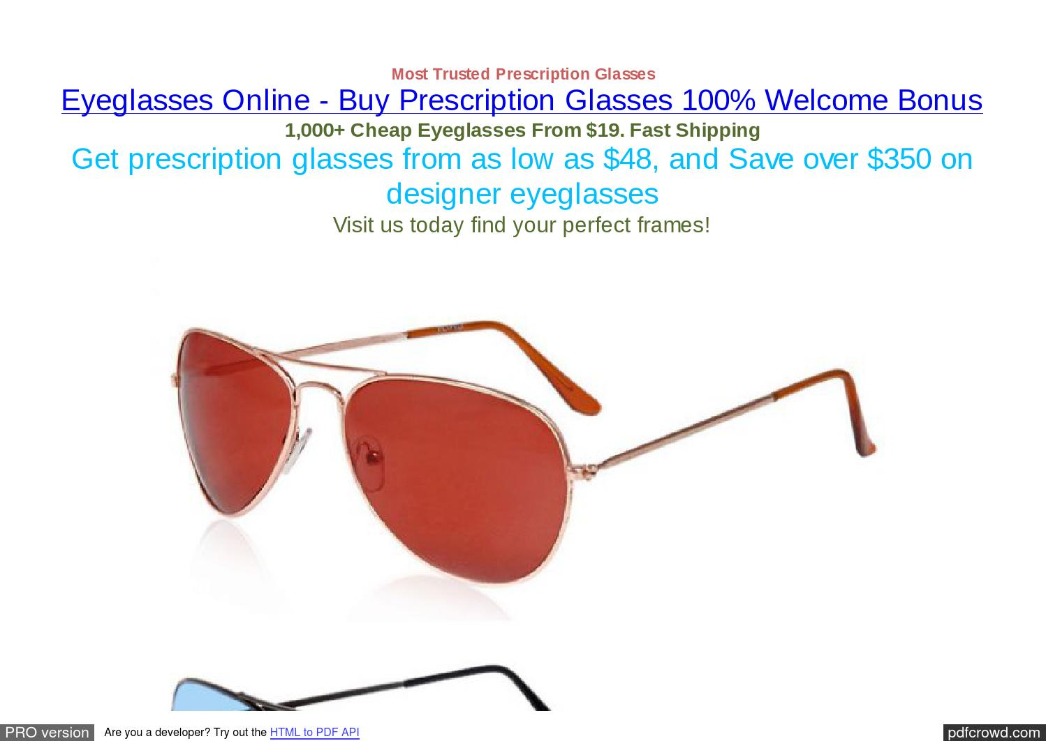 fd85df7469 Order Glasses Online With Prescription     Buy Glasses Frames     Buying Cheap  Glasses Online ei2z by rampoifinque - issuu