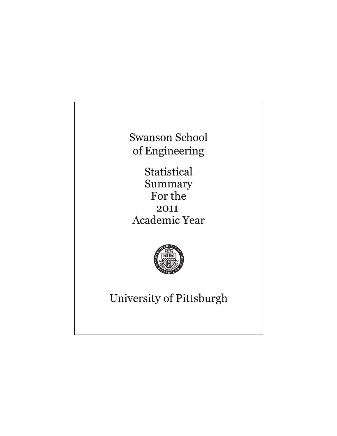 2011 Ssoe Statistical Summary By Pitt Swanson School Of