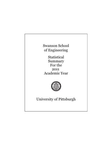 2011 Ssoe Statistical Summary By Pitt Swanson School Of Engineering Issuu