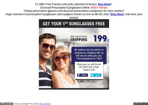 d20e40bceb  1 Offer Free Frames with wide selection of lenses. Buy Now!! Discount  Prescription Eyeglasses Online 4000+ frames Cheap prescription glasses and  discount ...