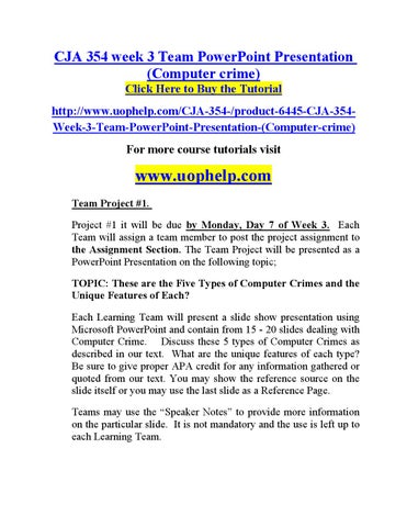 36367507a029d6 Cja 354 week 3 team powerpoint presentation by jsubramanyam1012 - issuu