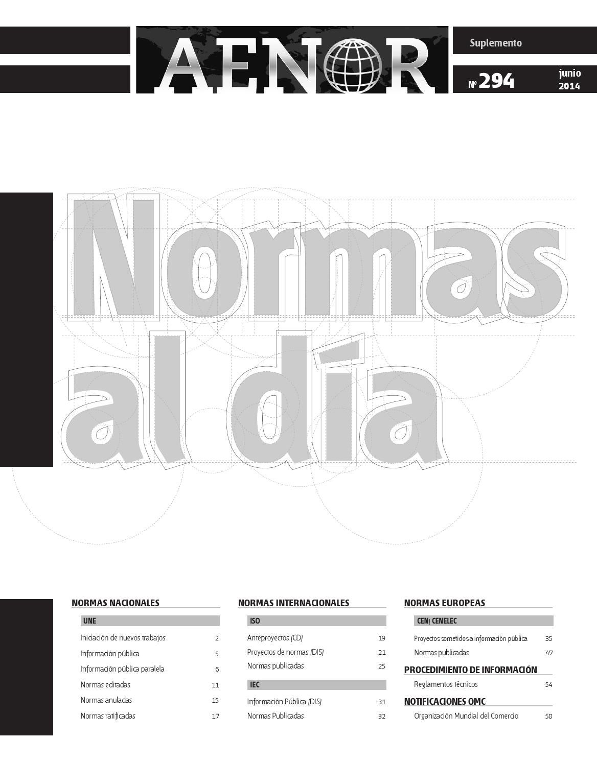 Normas al Día Nº 294 by Revista AENOR - issuu