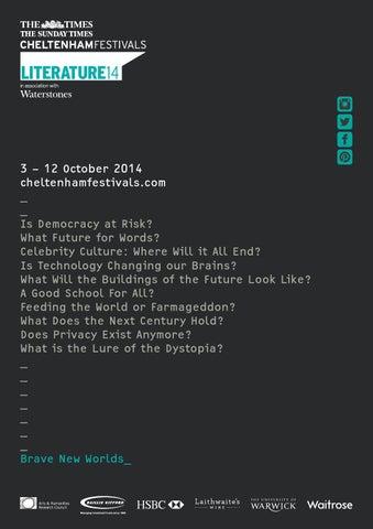 Cheltenham Literature Festival brochure 2014 by Cheltenham