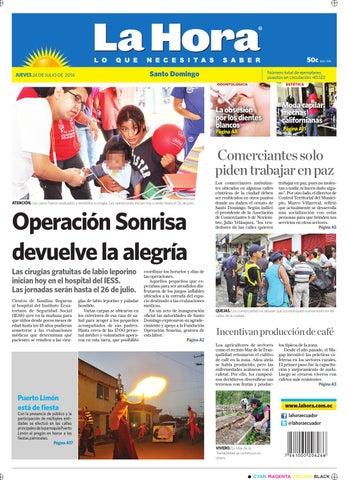 Santo Domingo 24 julio 2014 by Diario La Hora Ecuador - issuu 5cce099fc9a