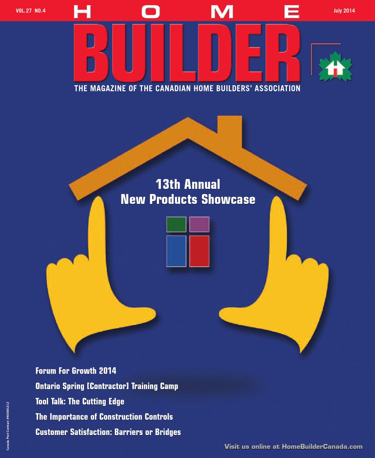 July august 2014 home builder magazine canada by work4 for Home builder magazine