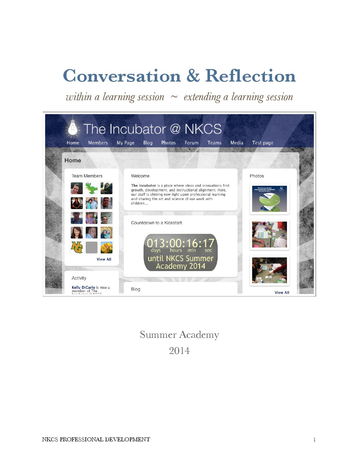 The Incubator @ Summer Academy 2014 by Sean Nash - issuu