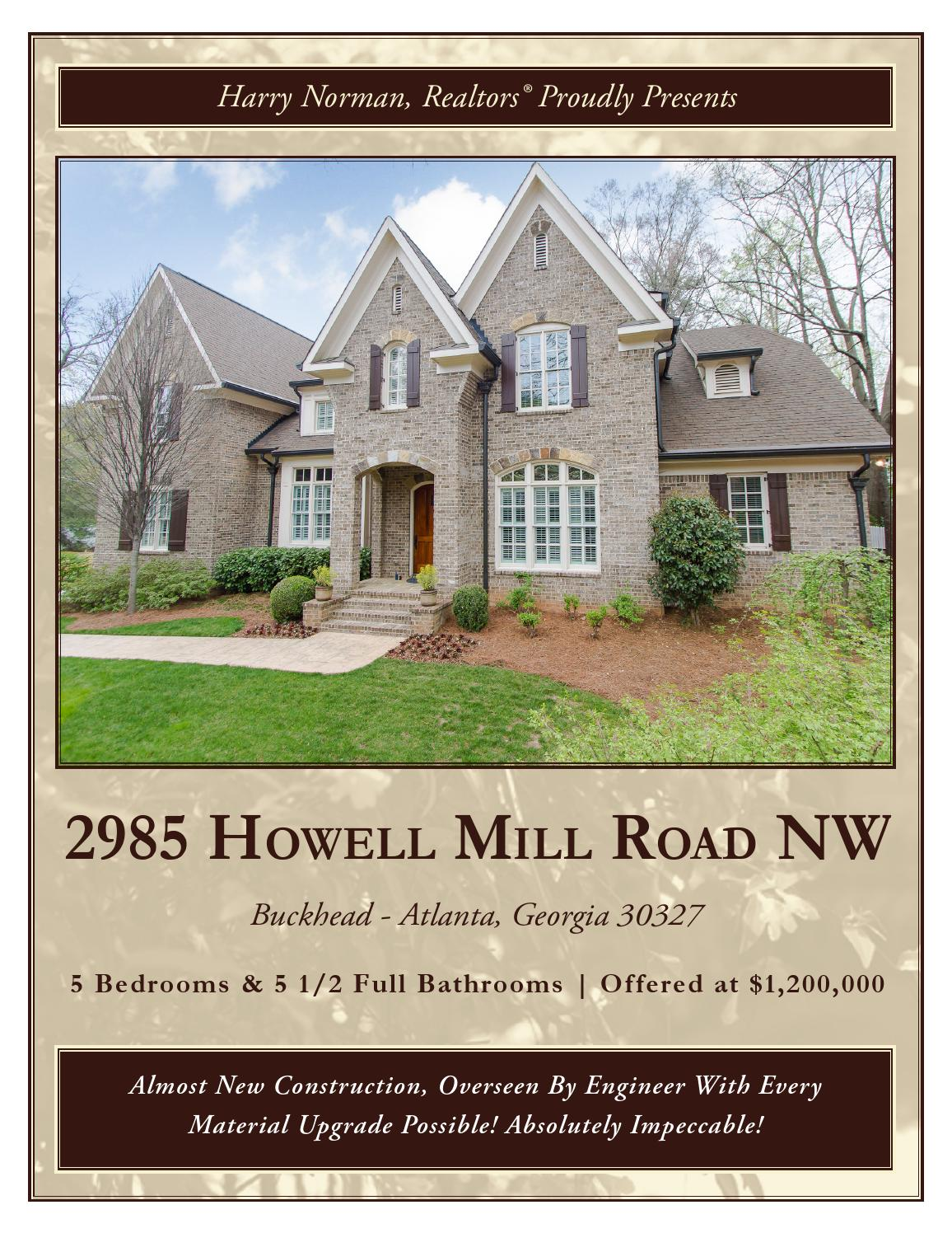 2985 Howell Mill Road By Harry Norman Buckhead Nw Office