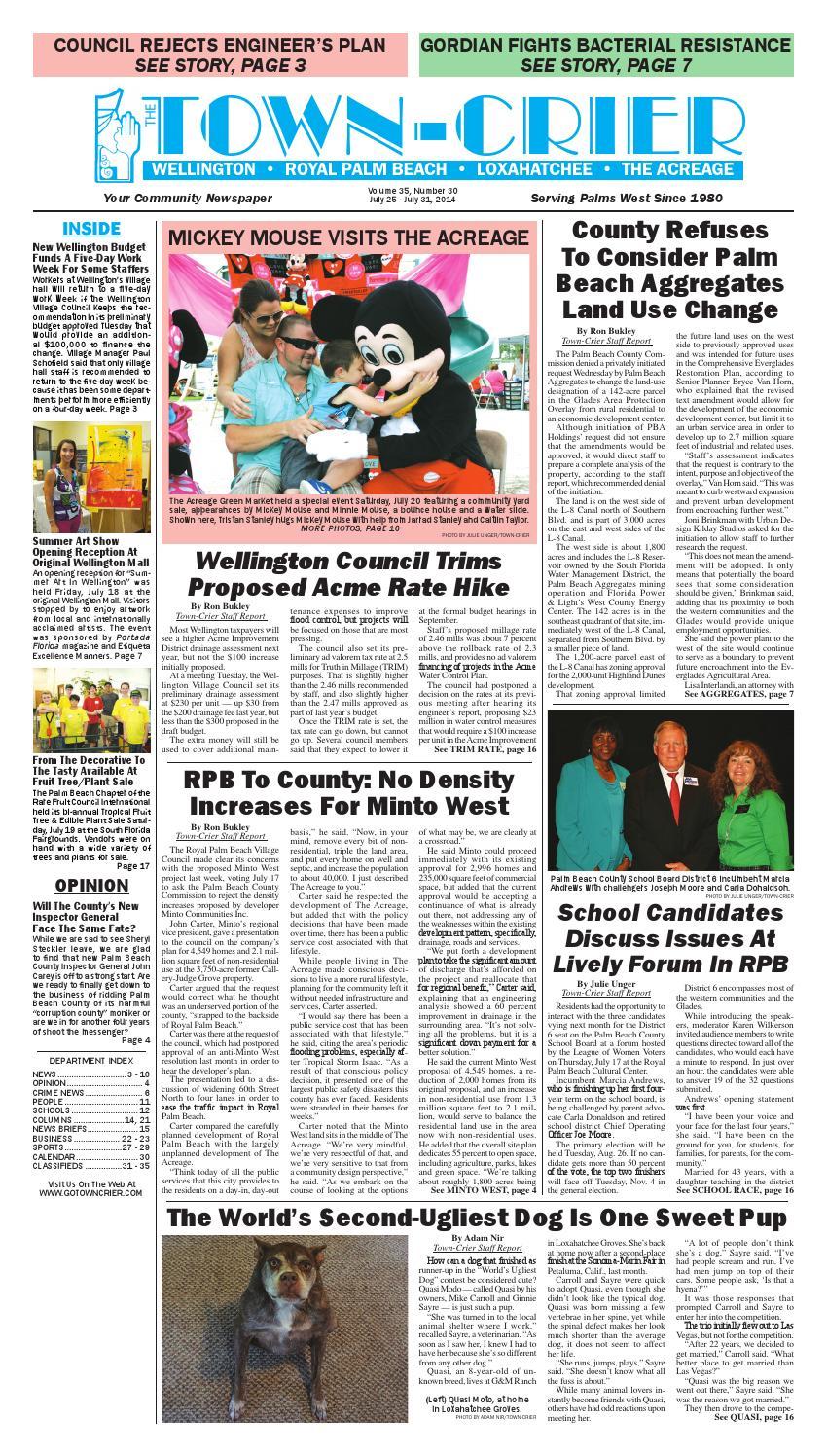 Town-Crier Newspaper July 25, 2014