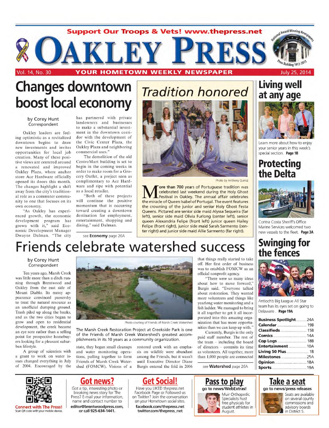 Oakley Press 07.25.14 by Brentwood Press & Publishing - issuu