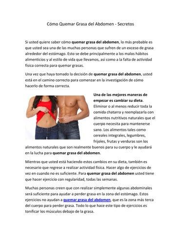 reducir la investigación de la grasa del vientre