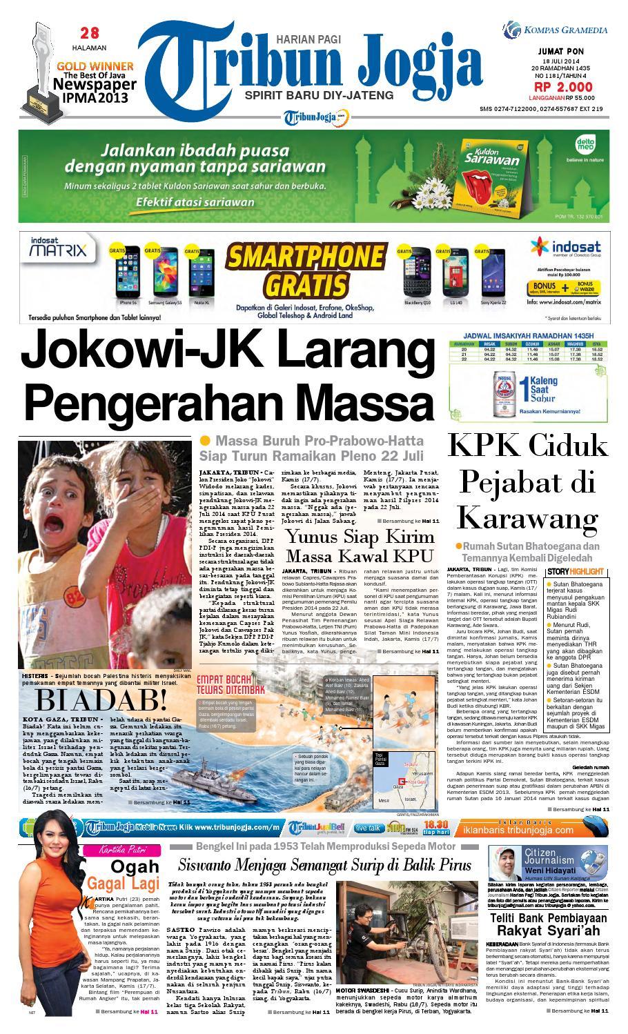 Tribunjogja 18 07 2014 By Tribun Jogja Issuu
