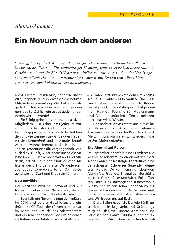 SALVE 3/2014 by Kloster Einsiedeln - issuu