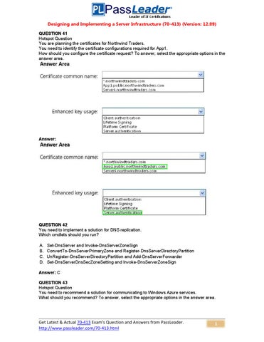 928abd2be078 Try Passleader 70-413 New Update Premium PDF Dumps (41-60) by ...