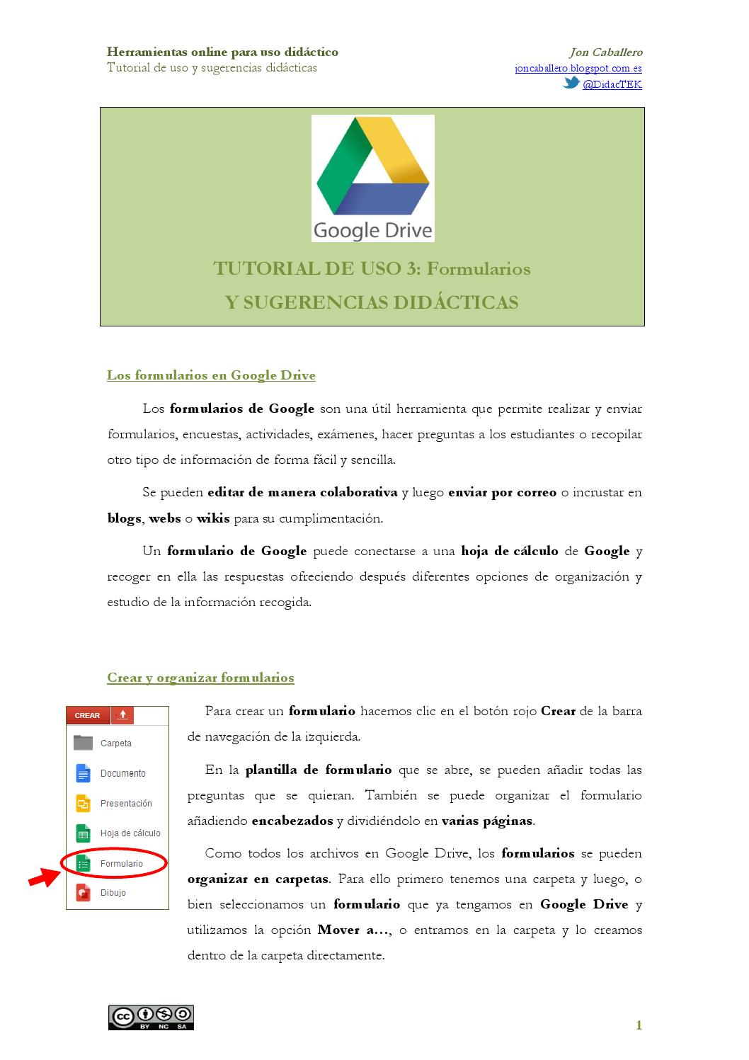 Tutorial googledrive 3 formularios by joncaballero - issuu
