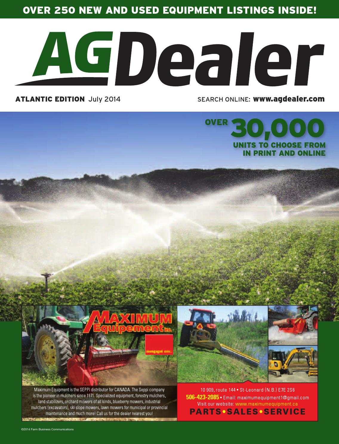 AGDealer Atlantic Edition, July 2014 by Farm Business Communications