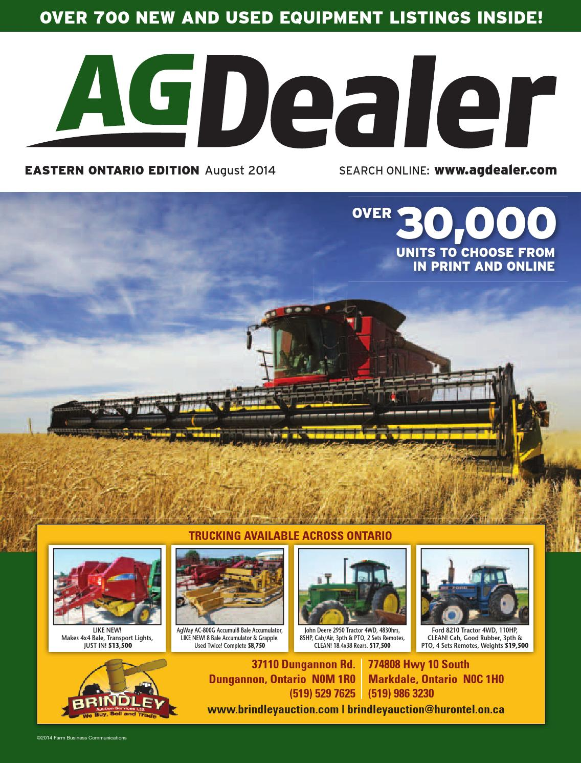 AGDealer Eastern Ontario Edition, August 2014 by Farm Business  Communications - issuu