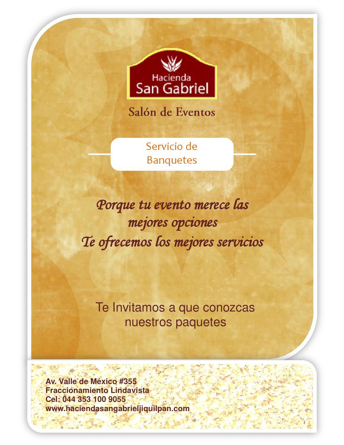 Men Servicio De Banquetes Hacienda San Gabriel Jiquilpan Mich  # Muebles En Jiquilpan Mich