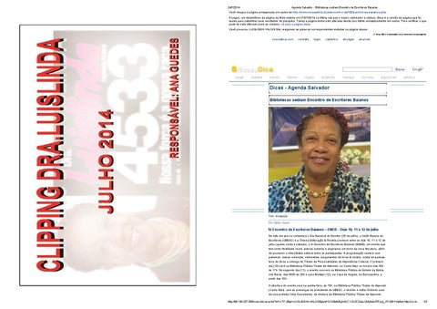 1e394de78 Clipping dra luislinda01 by Onim - issuu