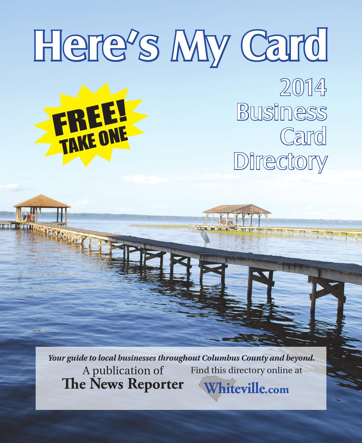 Business Card Directory 2014 by The News Reporter - issuu