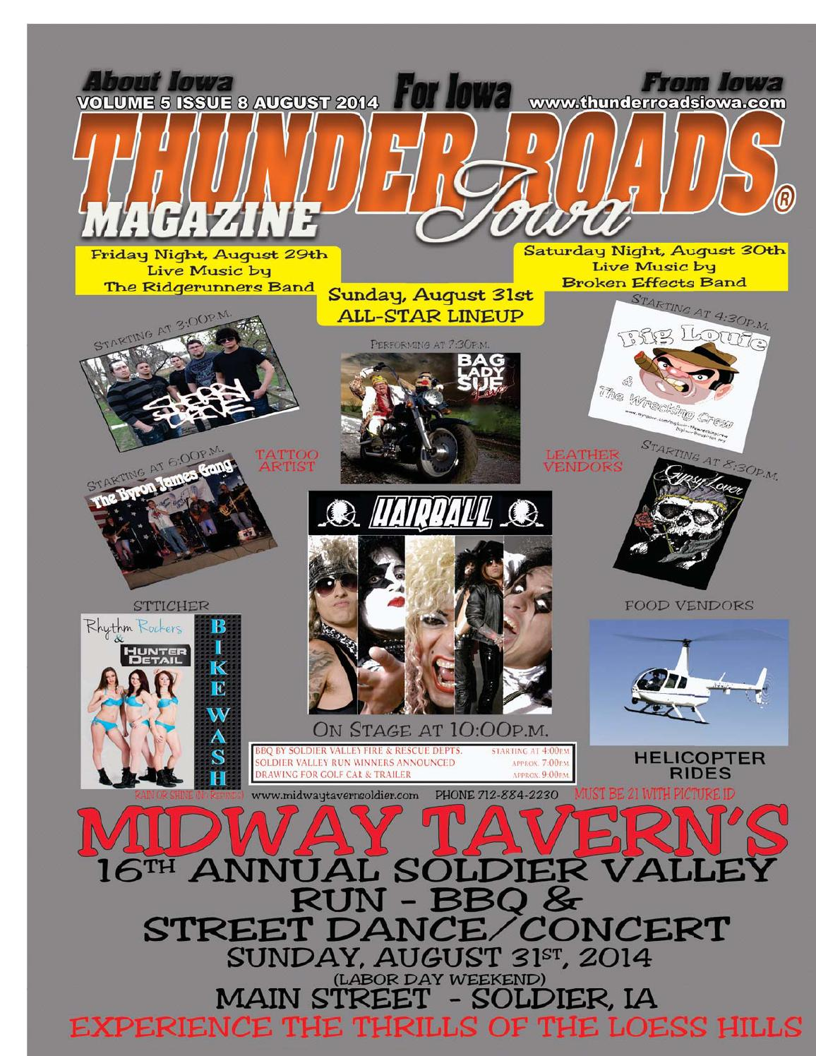 Thunder Roads Magazine of Iowa August 2014 by Thunder Roads Magazine ...