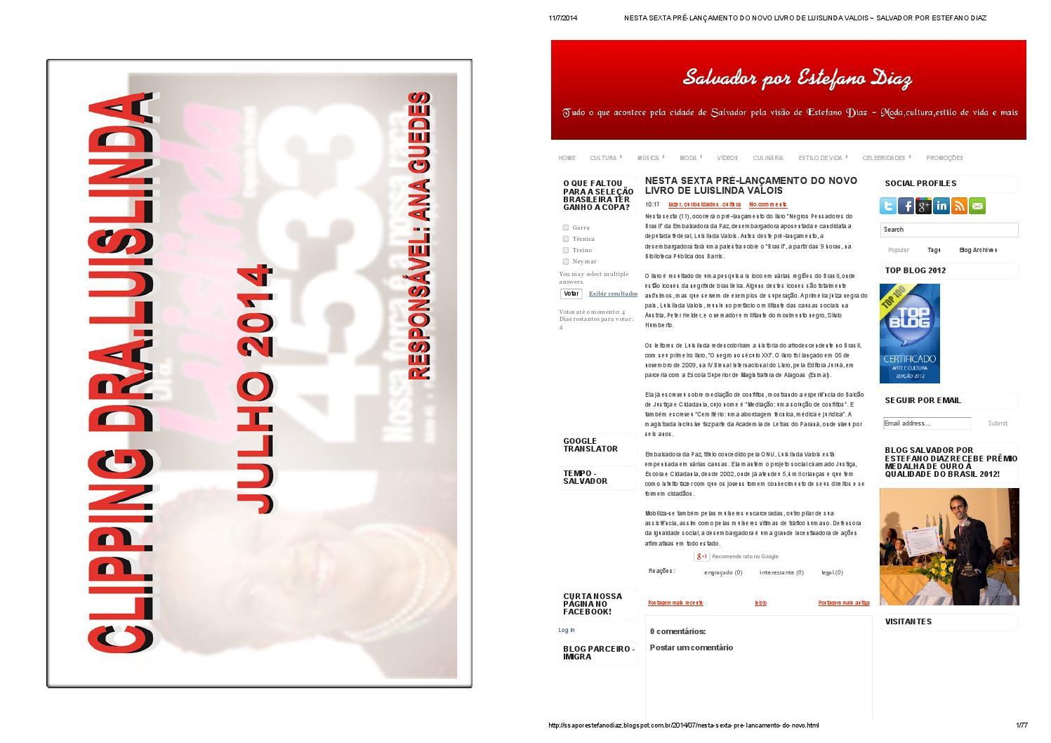 bac328c2fc0 Clipping dra luislinda09 by Onim - issuu