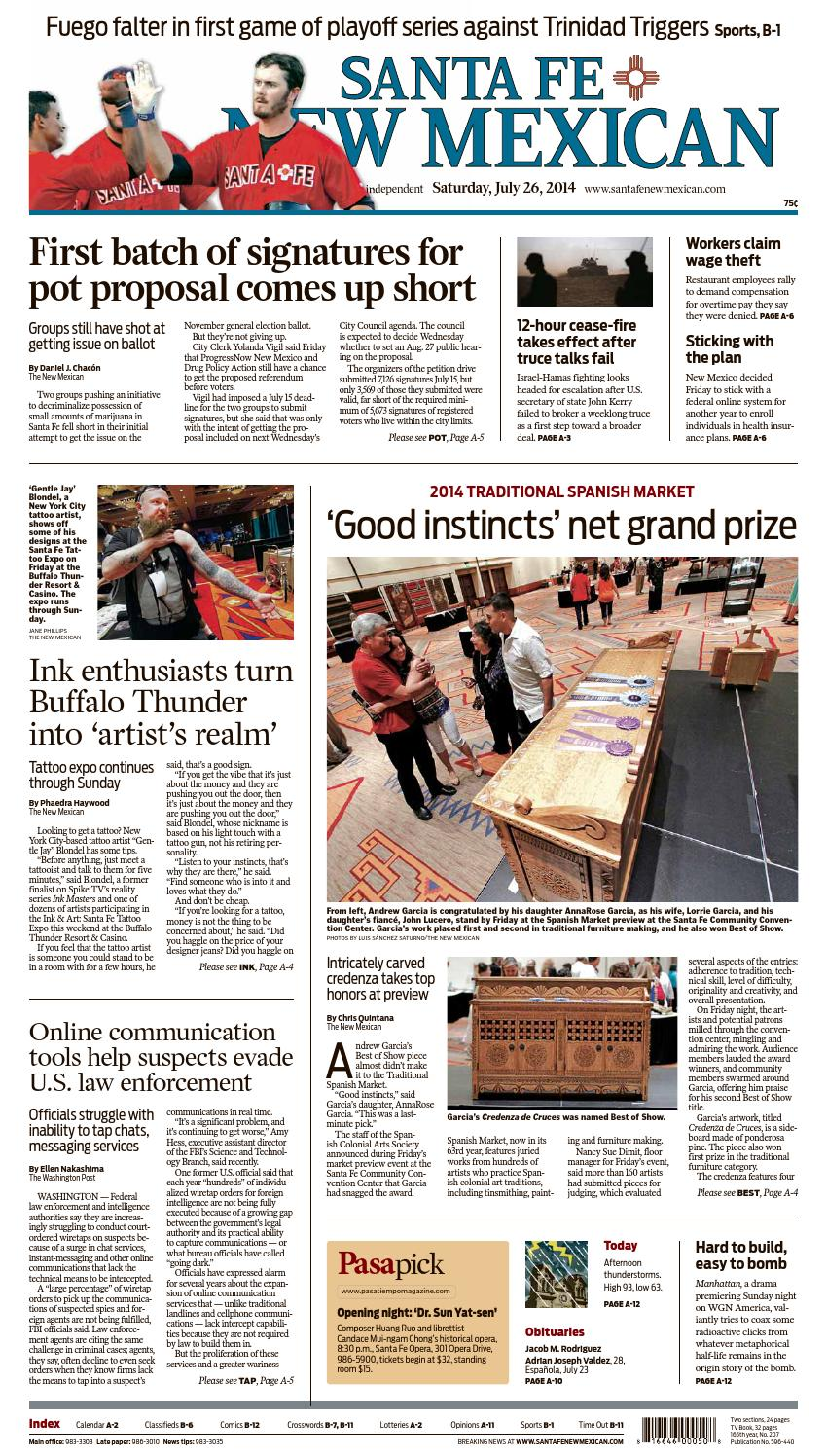 Santa Fe New Mexican, July 26, 2014 by The New Mexican - issuu
