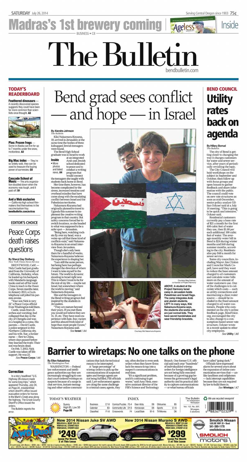 Bulletin Daily Paper 07-26-14 by Western Communications, Inc