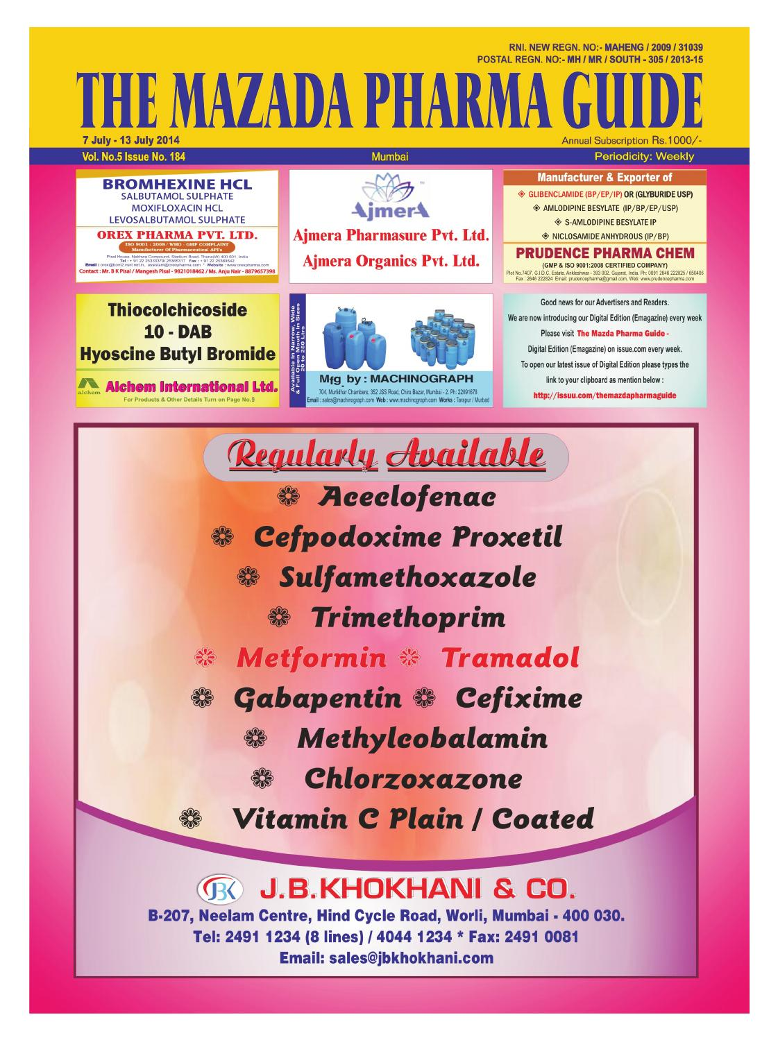 The Mazada Pharma Guide 7th july - 13th july 2014 by The
