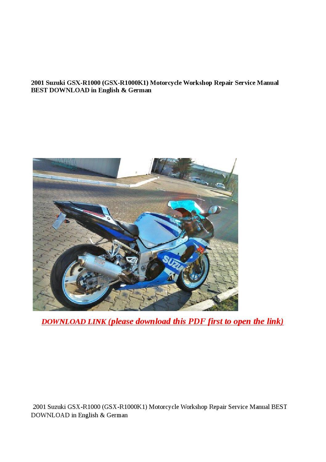 2001 suzuki gsx r1000 (gsx r1000k1) motorcycle workshop repair service  manual best download in engli by Anna Tang - issuu