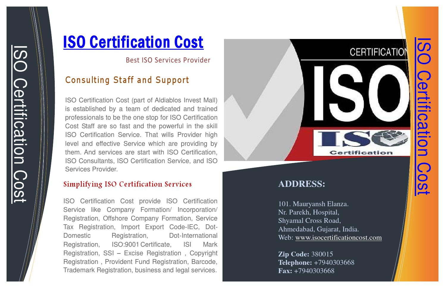 Iso Certification Service Provide By Expert Iso Services Provider By