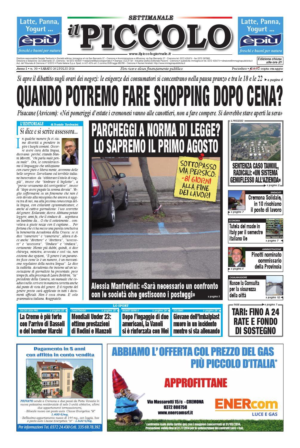 Settimanale Il Piccolo by promedia promedia - issuu 740a7e1e193d