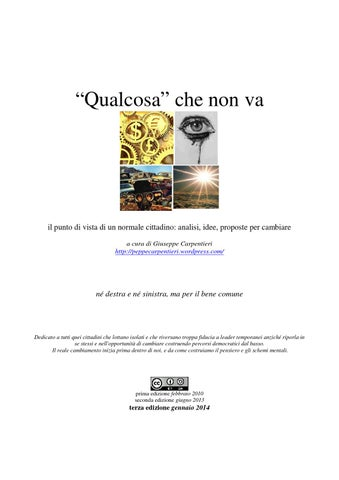 Qualcosa che non va by peppe carpentieri issuu page 1 fandeluxe Gallery