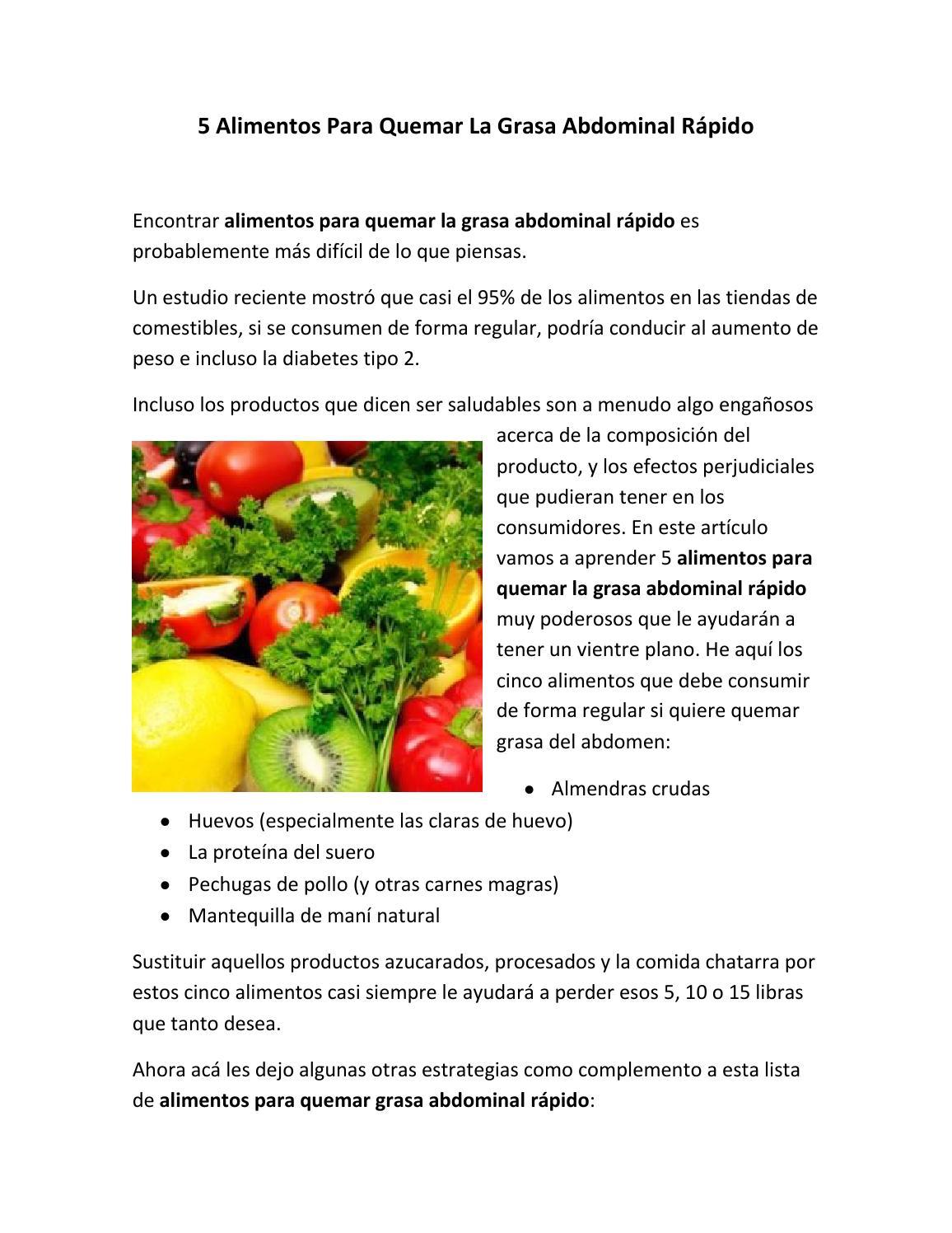Los 5 alimentos para bajar de peso