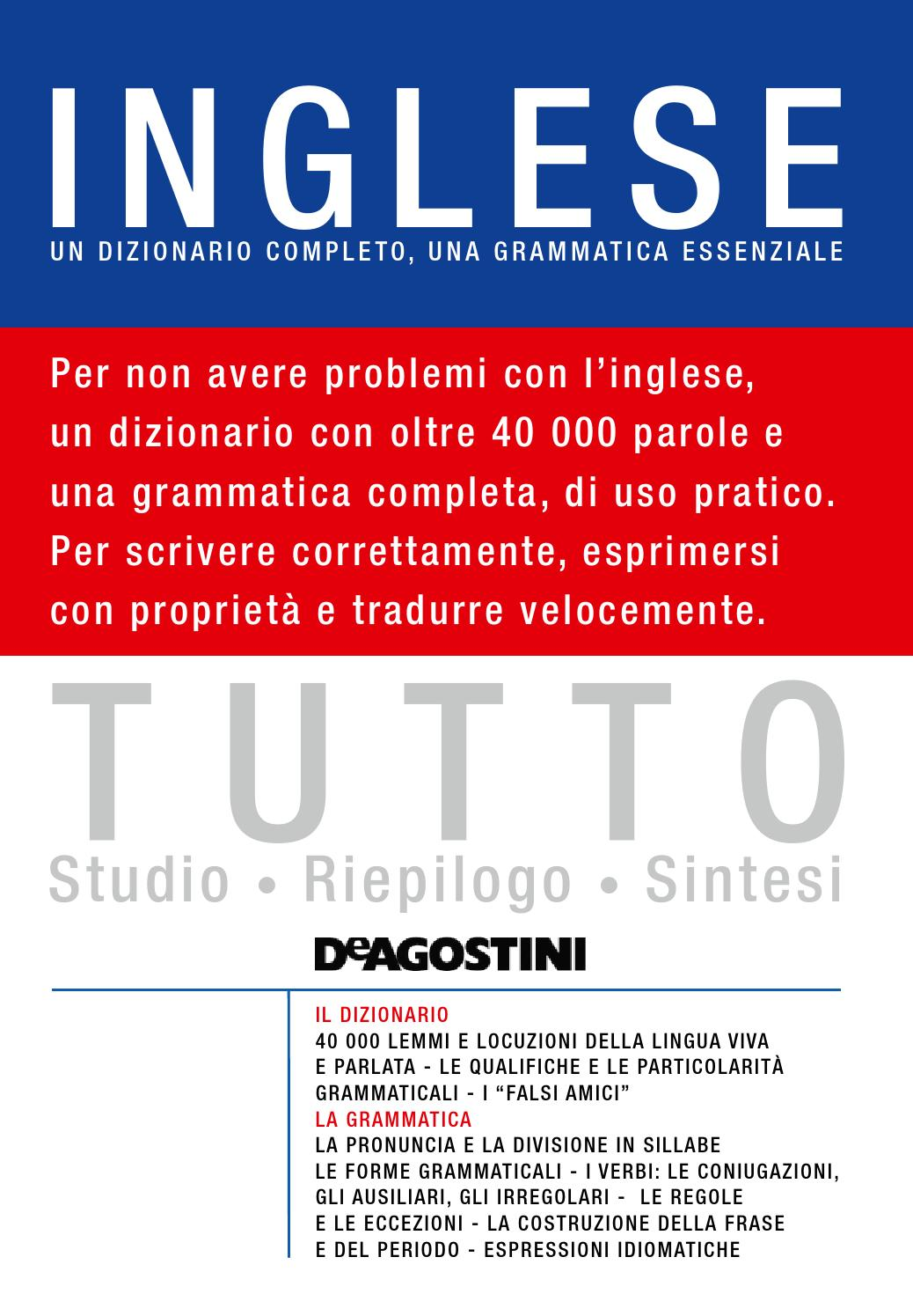 Tutto inglese by materiali issuu for Disfare la valigia in inglese