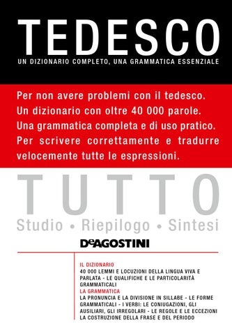 Tutto - Tedesco by Materiali - issuu