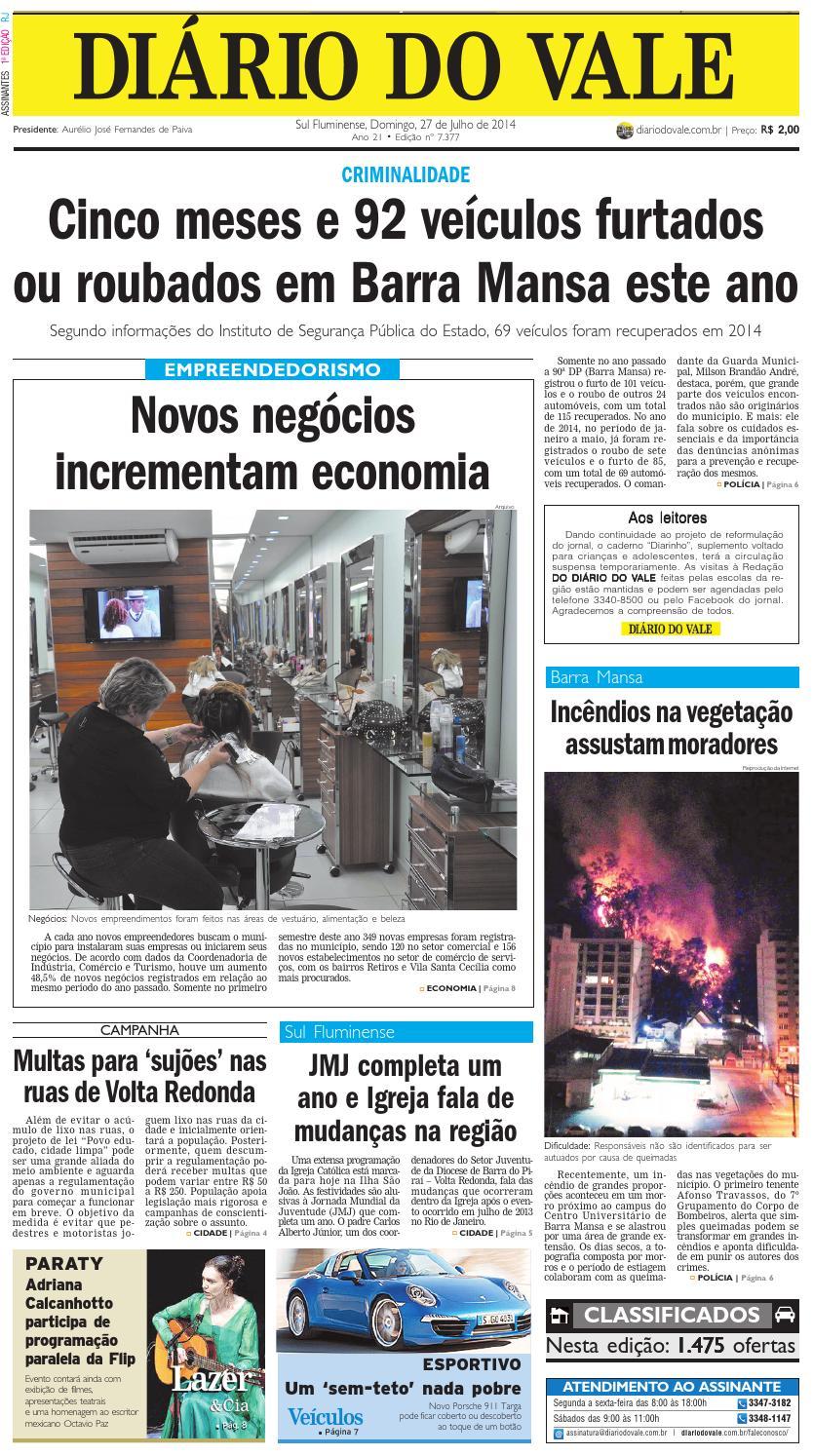 2a22d8b4ce6f7 7377 diario do vale domingo 27 07 2014 by Diário do Vale - issuu