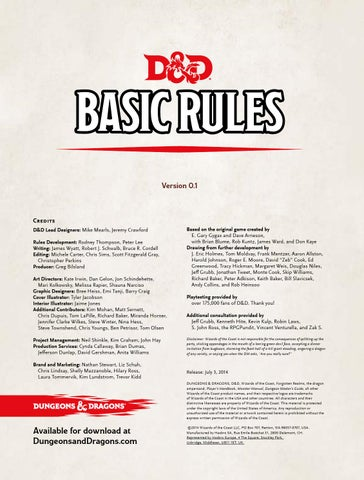 D&D 5th Basic Rules by Fabrizio - issuu